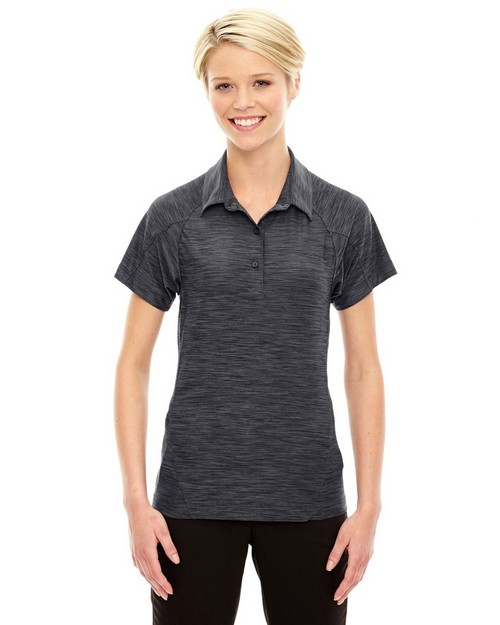 North End Sport Red 78668 Ladies' Barcode Performance Stretch Polo