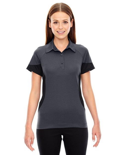 North End Sport Red 78677 Ladies' Refresh UTK Coffee Performance Melange Jersey Polo