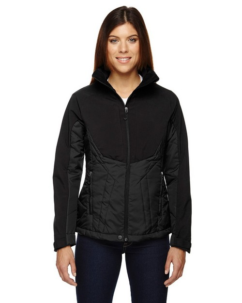 North End Sport Red 78679 Ladies' Innovate Insulated Hybrid Soft Shell Jacket