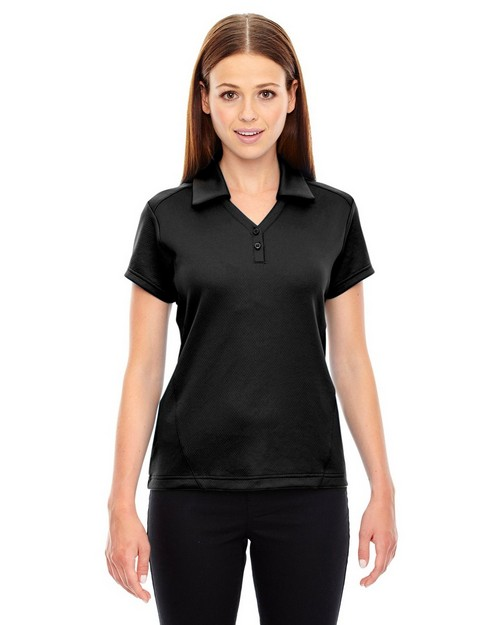 North End 78803 Ladies Exhilarate Coffee Charcoal Performance Polo