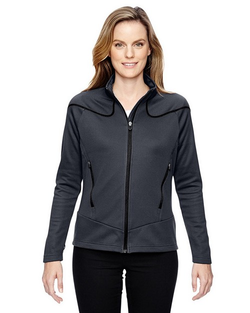 North End 78806 Ladies' Interactive Cadence Two-Tone Brush Back Jacket