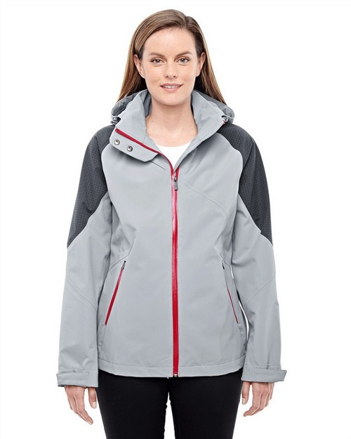 North End 78808 Ladies' Impulse Interactive Seam-Sealed Shell Jacket