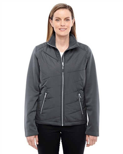 North End 78809 Ladies' Quantum Interactive Hybrid Insulated Jacket
