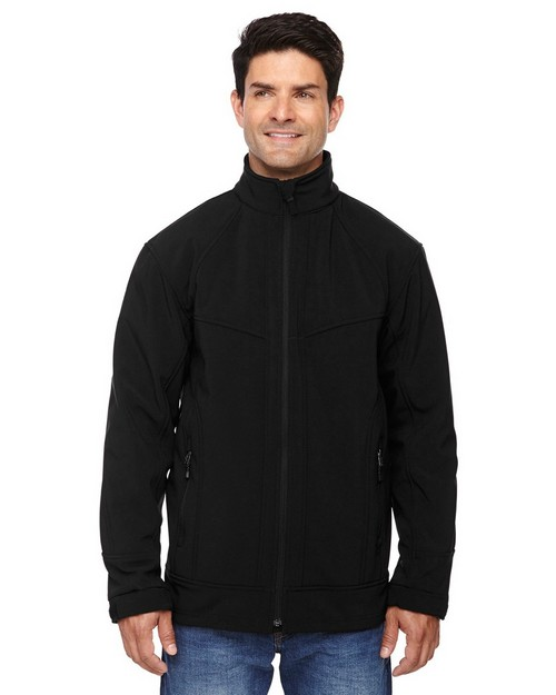 North End 88604 Men's Three-Layer Light Bonded Soft Shell Jacket