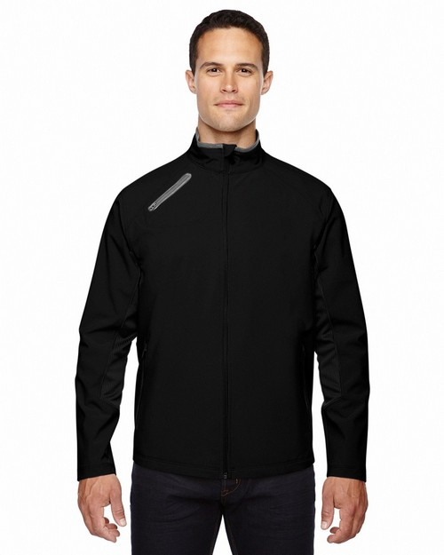 North End  88621 Men's Three-Layer Light Bonded Soft Shell Jacket