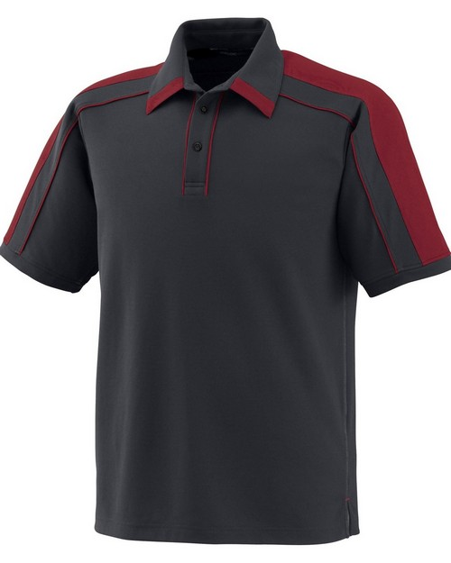 North End Sport Red 88648 Men's Sonic Performance Polyester Pique Polo