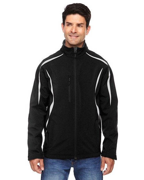 North End 88650 Men's Enzo Colorblocked Three-Layer Fleece Bonded Soft Shell Jacket
