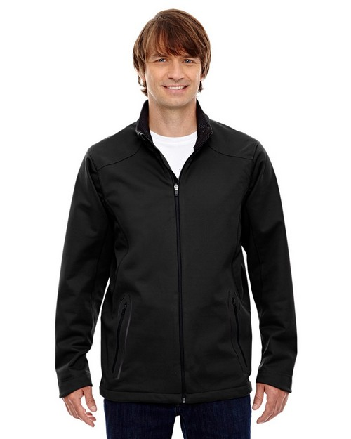 North End 88655 Men's Splice Three-Layer Light Bonded Soft Shell Jacket with Laser Welding