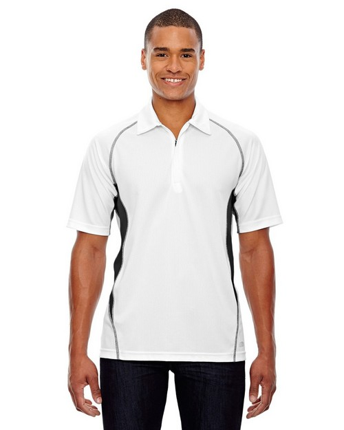 North End Sport Red 88657 Men's Serac Performance Zippered Polo