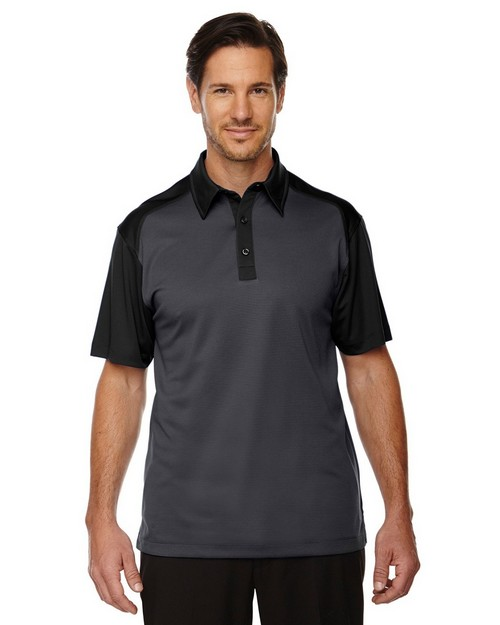 North End Sport Red 88676 Men's Symmetry UTK Coffee Performance Polo