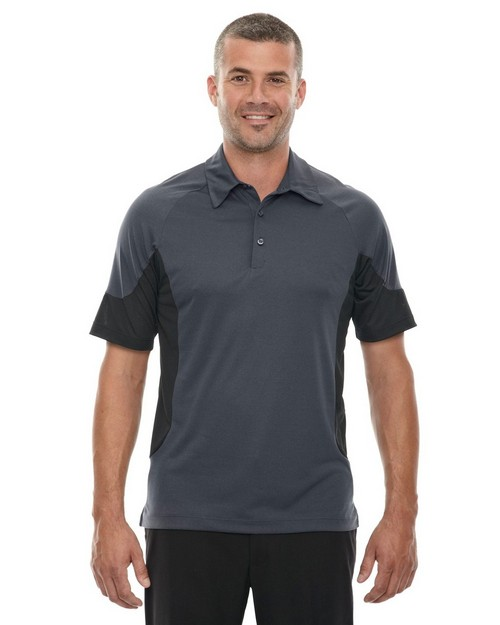 North End Sport Red 88677 Men's Refresh UTK Coffee Performance Melange Jersey Polo