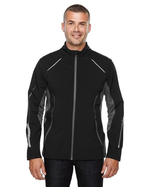 North End Sport Red 88678 Men's Pursuit Three-Layer Light Bonded Hybrid Soft Shell Jacket with Laser