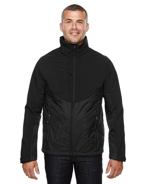 North End 88679 Innovate Mens Hybrid Insulated Soft Shell Jacket