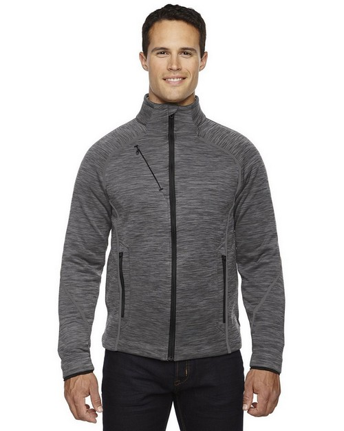 North End 88697 Men's Flux Melange Bonded Fleece Jacket