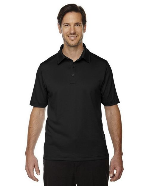 North End 88803 Men's Exhilarate Coffee Charcoal Performance Polo with Back Pocket