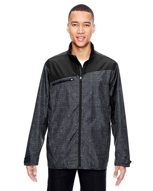 North End 88805 Men's Interactive Sprint Printed Lightweight Jacket
