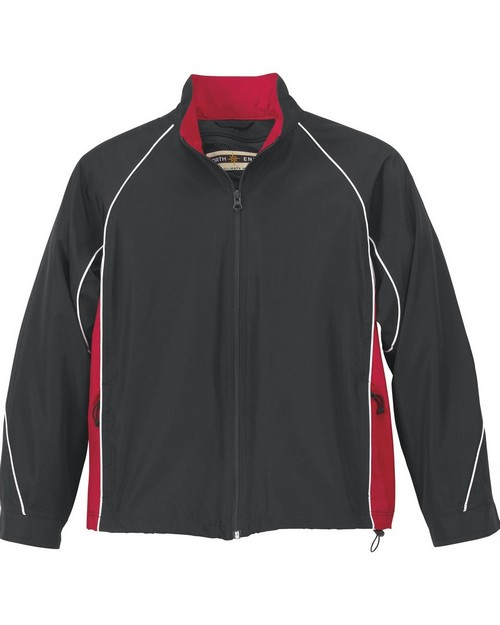 North End 68007 Youth Woven Twill Athletic Jacket