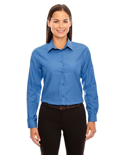 North End 77038 Windsor Ladies Long Sleeve Oxford Shirt