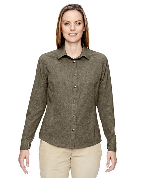 North End 77045 Ladies Excursion Utility Two Tone Performance Shirt