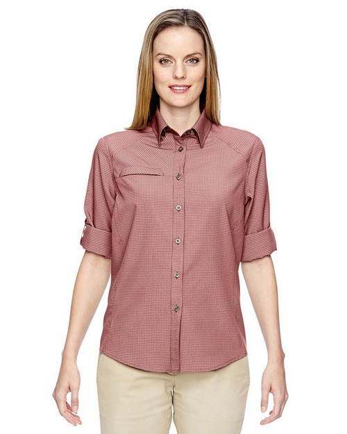 North End 77046 Ladies Excursion FBC Textured Performance Shirt