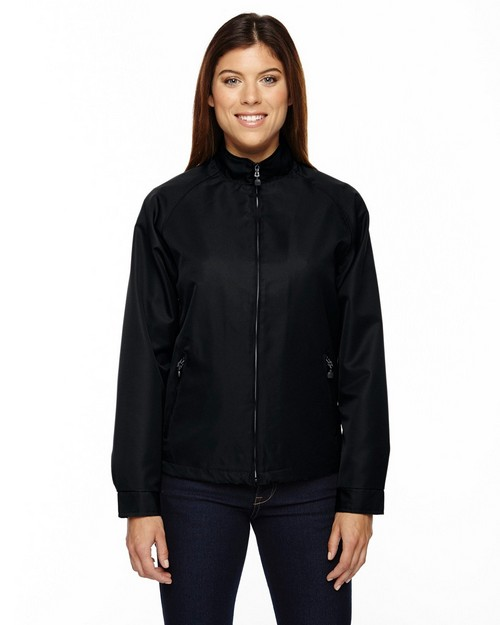 North End 78044 Ladies Micro Twill Hip Length Jacket