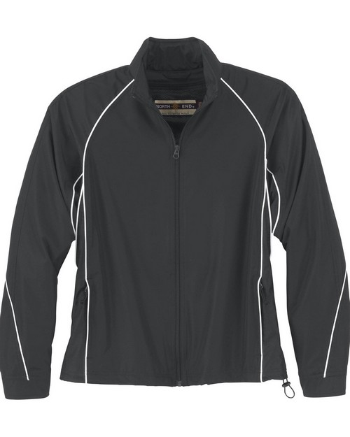 North End 78066 Ladies Woven Twill Athletic Jacket