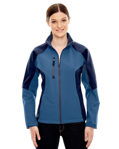 North End 78077 Compass Ladies Color Block Soft Shell Jacket