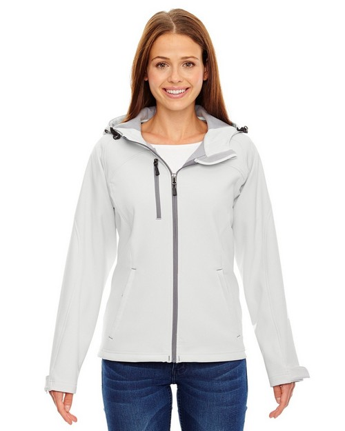 North End 78166 Prospect Ladies Soft Shell Jacket With Hood
