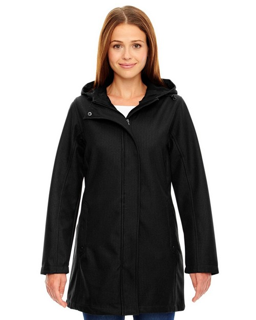 North End 78171 Ladies Textured City Soft Shell Jacket