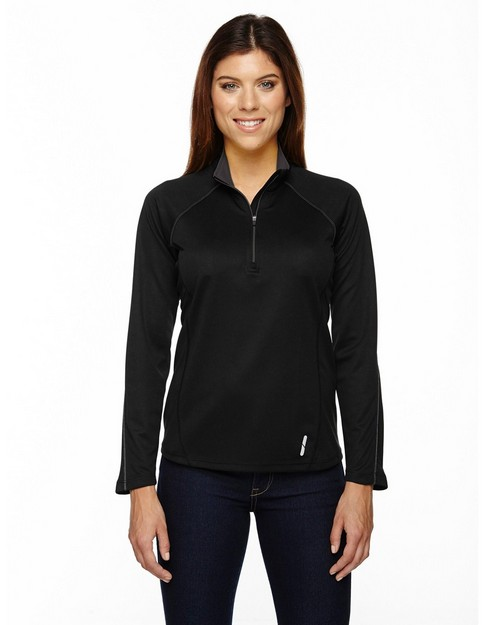 North End 78187 Radar Ladies Half Zip Performance Long Sleeve Top