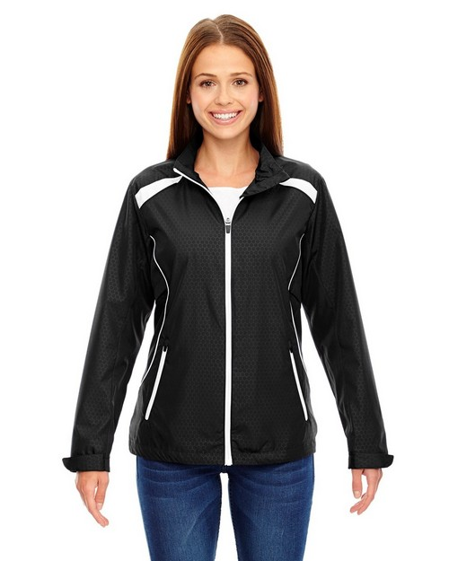 North End 78188 Tempo Jacket Ladies Lightweight Recycled Polyester Jacket With Embossed Print