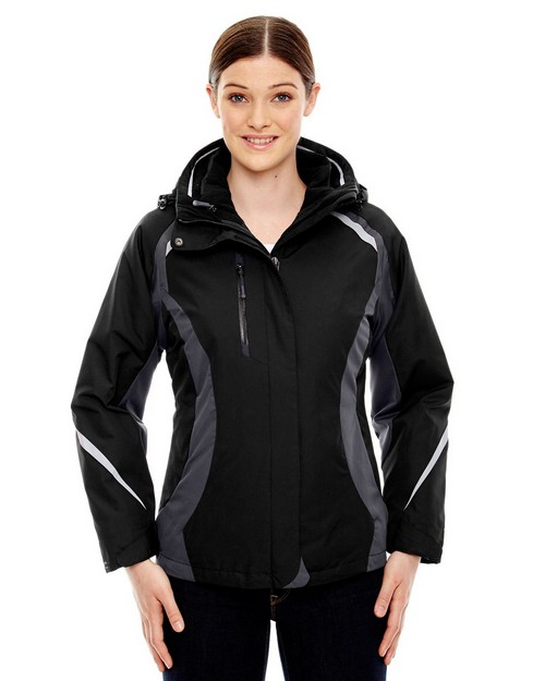 North End 78195 Height Ladies 3 In 1 Jacket With Insulated Liner