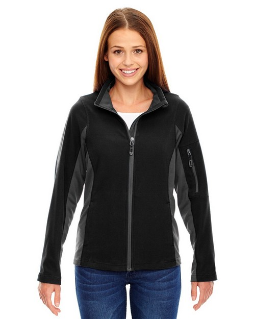 North End 78198 Generate Ladies Textured Fleece Jacket