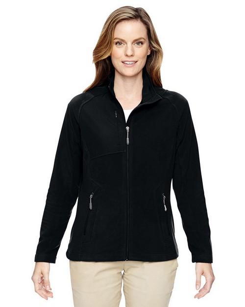 North End 78215 Ladies Excursion Trail Fabric Block Fleece Jacket