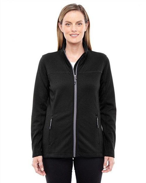 North End 78229 Ladies Torrent Interactive Textured Performance Fleece Jacket