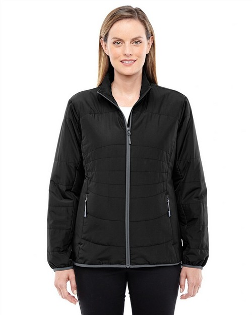 North End 78231 Ladies Resolve Interactive Insulated Packable Jacket