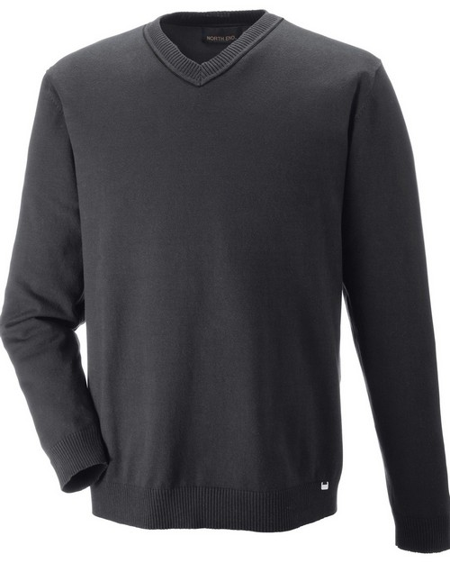 North End 81010 Merton Mens Soft Touch V Neck Sweater