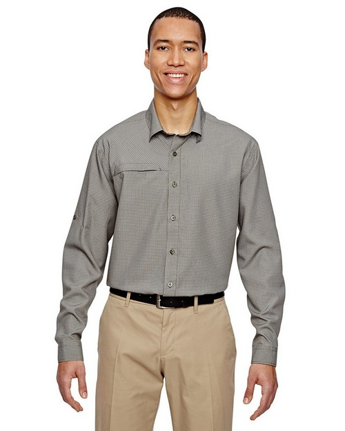 North End 87046 Mens Excursion FBC Textured Performance Shirt