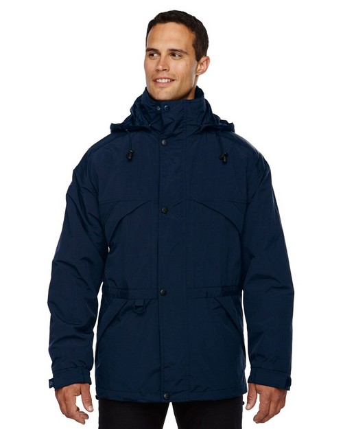 North End 88007 Mens 3-In-1 Techno Series Parka With Dobby Trim
