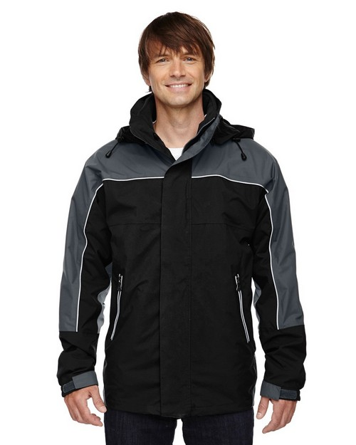 North End 88052 Mens Techno Performancetm 3-In-1 Seam Sealed Mid-Length Jacket
