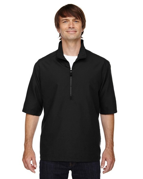 North End 88084 Mens MICRO Plus Short Sleeve Windshirt With Teflon