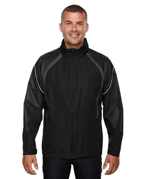 North End 88168 Sirius Mens Lightweight Jacket With Embossed Print