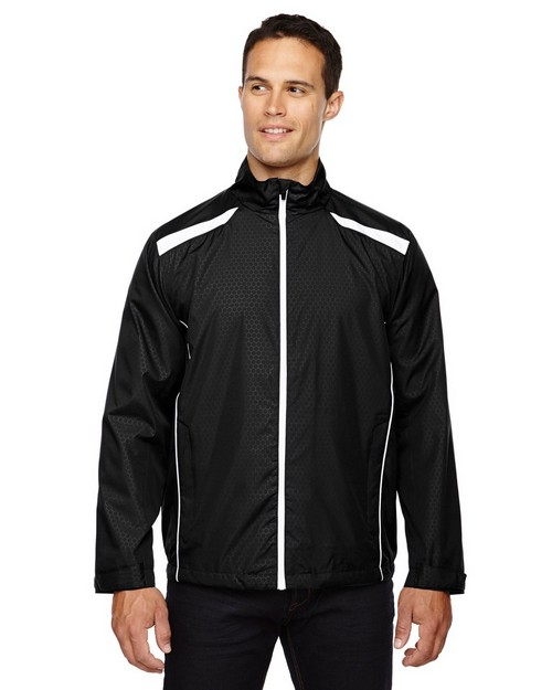 North End 88188 Tempo Jacket Mens Lightweight Recycled Polyester Jacket With Embossed Print