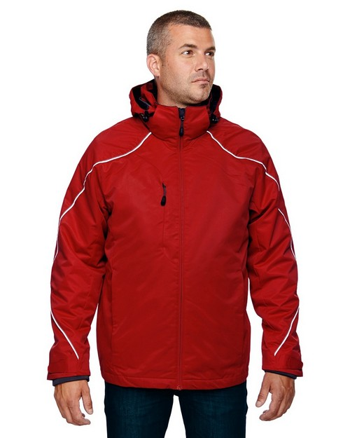 North End 88196T Angle Mens Tall 3-in-1 Jacket with Bonded Fleece Liner