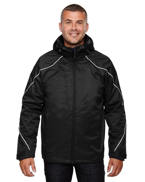 North End 88196 Angle Mens 3-In-1 Jacket With Bonded Fleece Liner