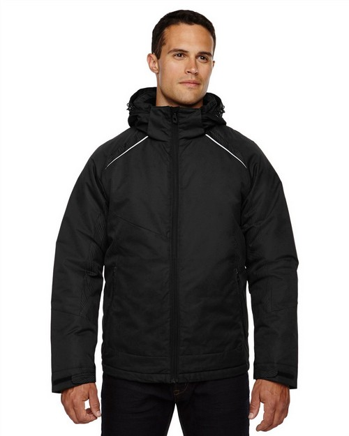 North End 88197 Linear Mens Insulated Jacket With Print