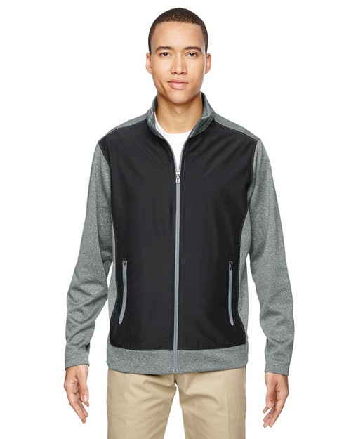 North End 88202 Victory Mens Hybrid Performance Fleece Jacket