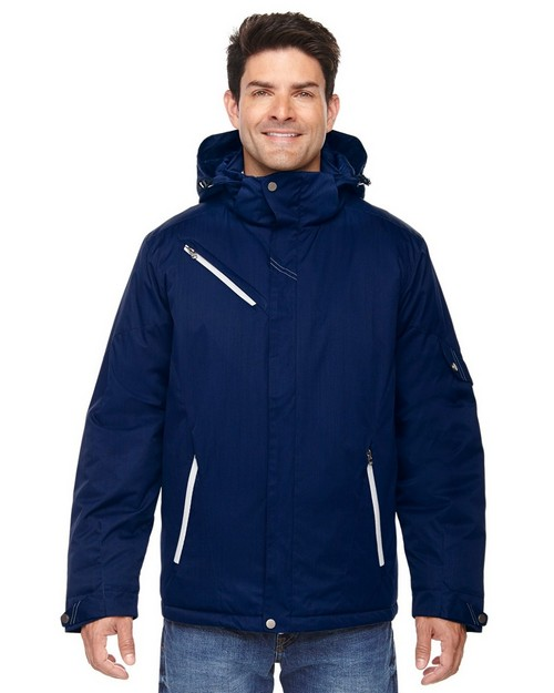 North End 88209 Rivet Mens Textured Twill Insulated Jacket