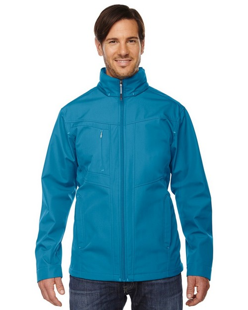 North End 88212 Forecast Mens 3 Layer Bonded Travel Soft Shell Jacket