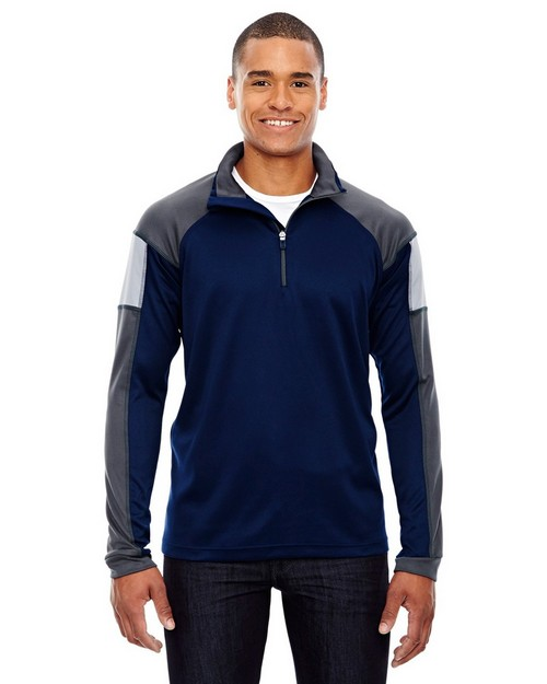 North End 88214 Quick Mens Performance Interlock Half-Zip Pull Over